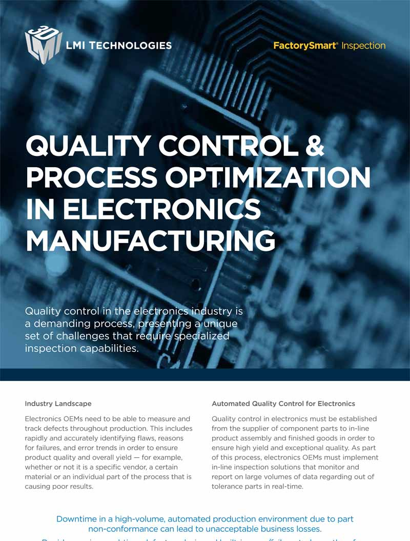 quality control & process optimization in electronics manufacturing